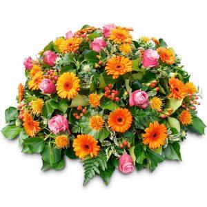 Les coussins de fleurs deuil