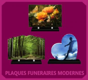 plaque fun raire moderne personnalis e marseille. Black Bedroom Furniture Sets. Home Design Ideas